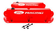 Proform Ford Racing Valve Covers Slant Edge Red
