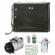 For Mercedes-benz C230 1999 2000 A/c Kit W/ Ac Compressor Condenser And Drier Gap