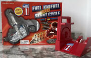 Rare Evel Knievel Super Stunt Cycle Ideal Toys Chrome Edition In Box Mint
