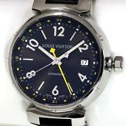 Louis Vuitton Tambour Gmt Q1131 Automatic Stainless Steel Menand039s Watch [u0826]