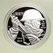 2018 P United States Us World War I Centennial Proof Silver Dollar Coin I95102