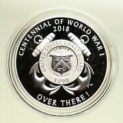 2018 United States Usa Us World War 1 Wwi Centennial Proof Silver Medal I95105