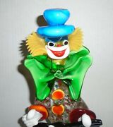 Vintage Murano Glass Clown 12 - 12.5 Made In Italy