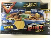 Monster Jam Dirt Arena Playset 164 Scale With Max-d Truck Exclusive Gift