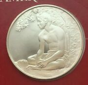1975 Sterling Silver The Treasures Of American Art Mauna,our Boatman 1891 Medal