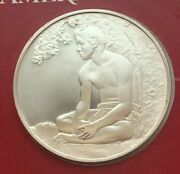 1975 Sterling Silver The Treasures Of American Art Maunaour Boatman 1891 Medal