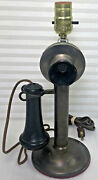 Brass Candlestick Telephone American Bell Western Electric