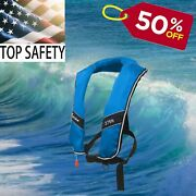 50 Off Premium Xl Size Automatic Life Jacket Life Vest For Adults 275n Buoyancy