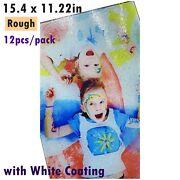 12pcs Sublimation Blanks Tempered Glass Cutting Board White Coating Rough