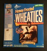 Jackie Robinson 50th Anniversary Honey Frosted Wheaties Box 1997 Empty Flat