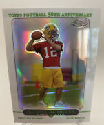 2005 Topps Chrome Aaron Rodgers Rookie Refractor