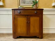 Rustic Antique Early 19th Century American Pine Jelly Cupboard Server Buffet.