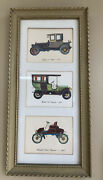 Vintage Antique Car Automobile Pictures By Lambert Products - Tall Narrow Frame