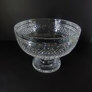 Large Waterford Cut Crystal Glass Fruit Centerpiece Castletown Footed Bowl 11