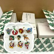 Disney Grolier Christmas Magic Lot Of 11 Collectible Ornaments With Boxes