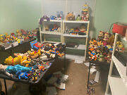 Huge Lot Of About 125 Toys Vintage Modern Disney Muppets Star Wars Minions Etc