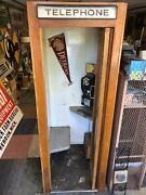 Vintage Wooden Phone Booth