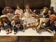 Lizzie High Wooden Dolls Lot Of 9