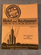 Vintage Griswold Cast Iron Hotel And Restaurant Equipment Catalogue E-39