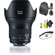 Zeiss Milvus 21mm F/2.8 Zf.2 Lens For Nikon F + Deluxe Lens Cleaning Kit