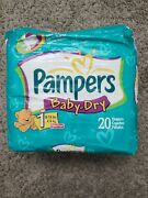 Vintage 2001 Pampers Baby Dry Diapers Size 1 Rare Fisher Price