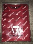 Supreme Velour Diagonal Logo Sweater Red Xl Fw/17 Sold Out Rare Hard 2 Find Bogo