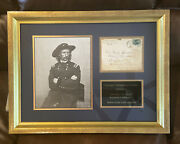 George A. Custer Signed Envelope Little Big Horn Us Army Officer And Calvary Cmdr.