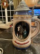 Budweiser Rare Vtg Clydesdale Beer Stein With Light Lamp