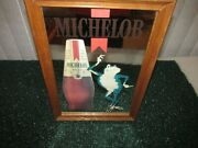 Michelob Beer Mirror Sign Frog Anheuser Busch 1987 Rare