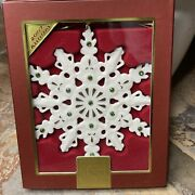 Lenox 2007 Gemmed Annual Snowflake Jeweled Christmas Tree Holiday Ornament New