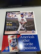 1998 Chicago Cubs Scorecard Vs Milwaukee Brewers Kerry Wood Cover 9988