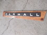 Farmall Ih 806 Tractor Orignal Front Right Radiator Hood Side Cover Panel Emblem