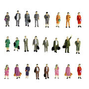 Lots 50 1/87 Ho Color People Model Mini Models For Train Layout Accessory