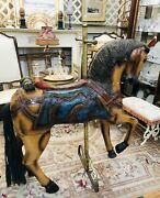 Antique Hand Carved Wood Wooden Painted Carousel Horse Local Pick-up Only