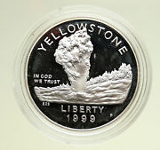 1999 P United States Yellowstone National Park 125y Pf Silver Dollar Coin I95071
