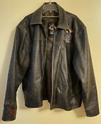 Rodeo Vegas 50th National Finals Rodeo Leather Jacket - Mens Size 3xl - Look
