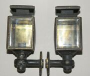 Antique Pair Of 19th/ Early 20th C Auto / Car Small Lamp Lights