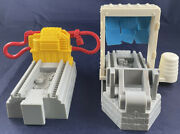 Lot Of 2 Gray Geotrax Workin' Roundhouse Replacement Gas And Train Wash Parts