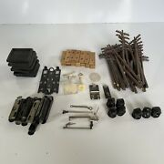 Lot Vintage Lionel Parts And Accessories Poles, Signs, Clips, Track Cushion, Etc.