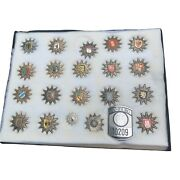 Collection Of 21 German Police Badges Hat Helmet Badge Insignia Excellent Lot