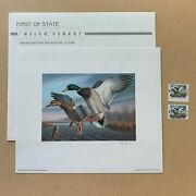 1988 Virginia First Of State Duck Stamp Print Signed By Artist Ronald J Louque