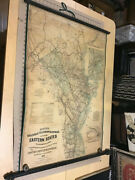 Original 1863 Lloydand039s Railroad Telegraph And Express Map Of Eastern States