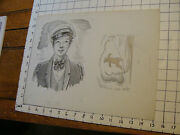 Charles E. Pont Original Art From 1939 Circus Boat Book Cabin Boy And Bear On Rop