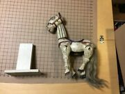 Vintage Original Wood Carved Horse Marrionette Puppet Aprox 18 Tall