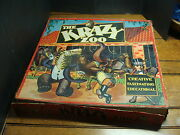 Large The Krazy Zoo Paper Litho Wooden Animals Toy Complete In Box