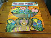 Vintage 1969 Fiesta Del Monte Poster, A Bit Hippy, Fun And Cool 6