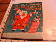 Vintage Book The Night Before Christmas Little Golden Book D Very Clean