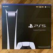 New Sealed Ps5 Playstation 5 Digital Edition White Console System In Hand