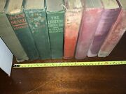 Antique Shabby Stack Distressed Junk Books Lot Staging Prop Crafts Free Shipping