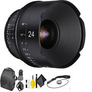 Xeen By Rokinon 24mm T1.5 For Pl + Deluxe Lens Cleaning Kit